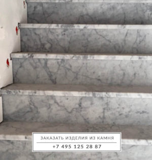 Лестница-мрамор-Бьянка-Каррара-1-2
