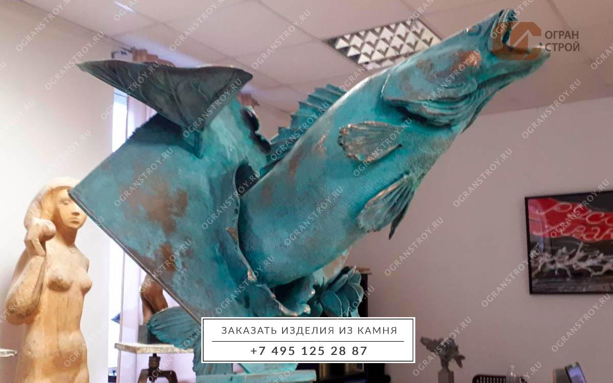 Скульптура-бронза-судак-1-1